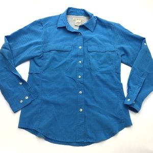 Exofficio Womens Blue Vented Button Down Shirt XS